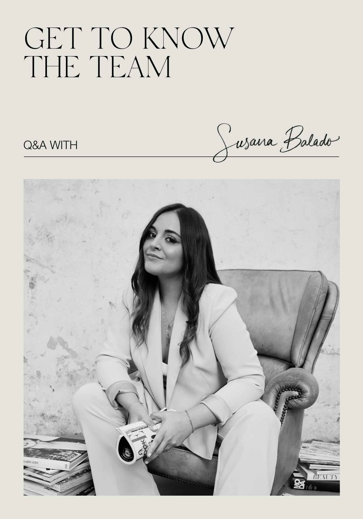 Get To Know the team! Q&A with Susana