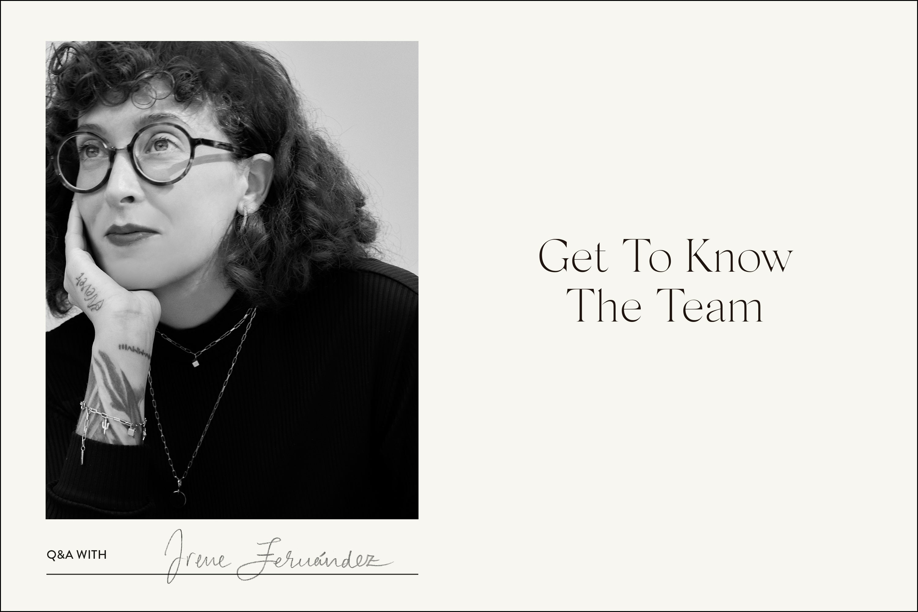 Get To Know the team! Q&A with: Irene Fernández