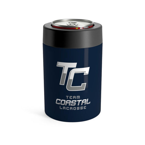 TC Team Coastal Lacrosse - Stainless Can Koozie (Blue) - Sports Parent Gear