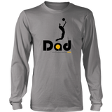 Men's Long Sleeve T-Shirt-Hitter Dad - Sports Parent Gear