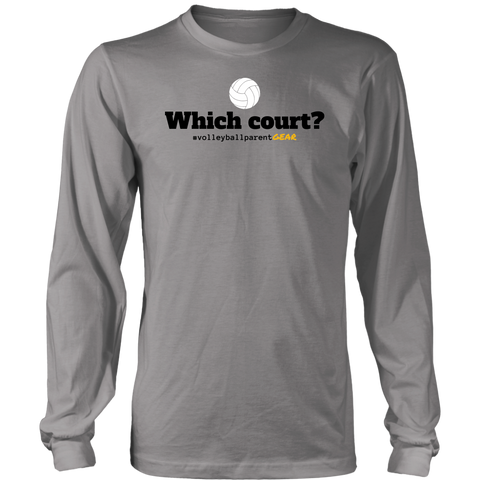 Men's Long Sleeve T-Shirt-Which Court? - Sports Parent Gear