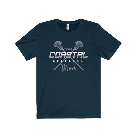 Team Coastal Lacrosse Mom-Short Sleeve T-Shirt - Sports Parent Gear