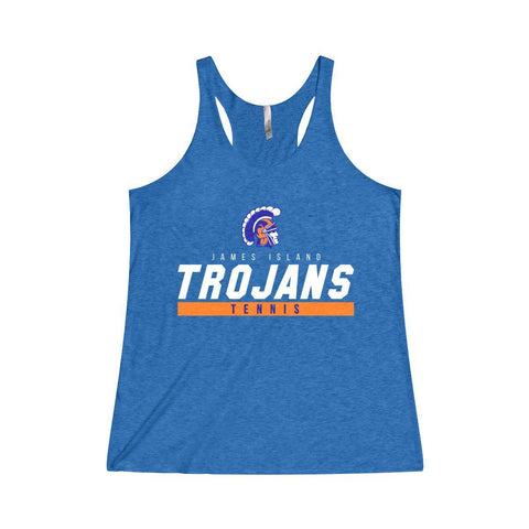James Island TENNIS-Women's Racerback Tank - Sports Parent Gear