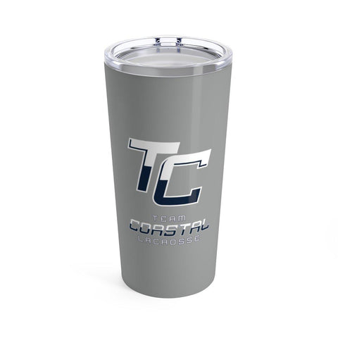 TC Team Coastal Lacrosse - Tumbler 20oz (Grey) - Sports Parent Gear