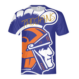 James Island Trojans Mens All-Over Print T-Shirt - Sports Parent Gear