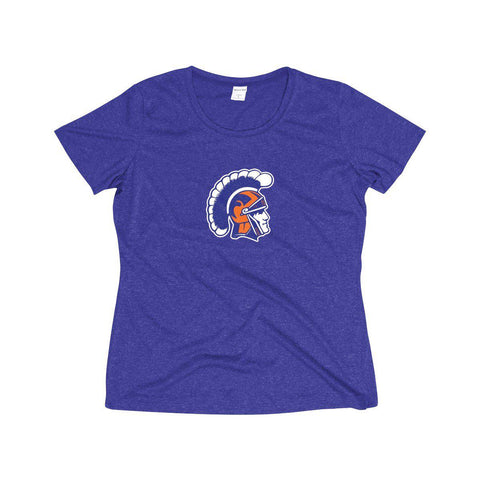 James Island Trojan Helmet Women's Heather Dri-Fit T-Shirt - Sports Parent Gear
