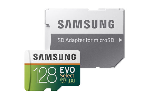 Samsung 128GB (U3) MicroSD EVO Select Memory Card with Adapter (MB-ME128GA/AM) - Sports Parent Gear