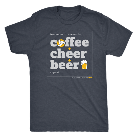 Men's T-Shirt Triblend-Coffee Cheer Beer - Sports Parent Gear