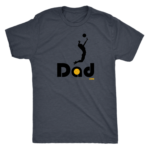Men's T-Shirt Triblend-Hitter Dad - Sports Parent Gear