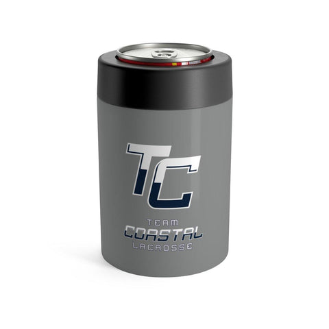Team Coastal Lacrosse - Stainless Can Koozie (Grey) - Sports Parent Gear