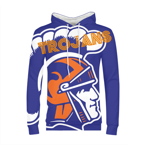 James Island Trojans Mens All-Over Print Hoodie - Sports Parent Gear