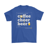 Men's T-Shirt Gildan-Coffee Cheer Beer - Sports Parent Gear
