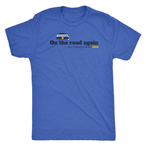 Men's T-Shirt Triblend-On the road again (Light Colors) - Sports Parent Gear