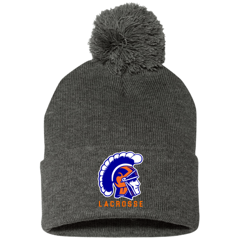 James Island Trojans Lacrosse Pom Pom Knit Cap - Sports Parent Gear