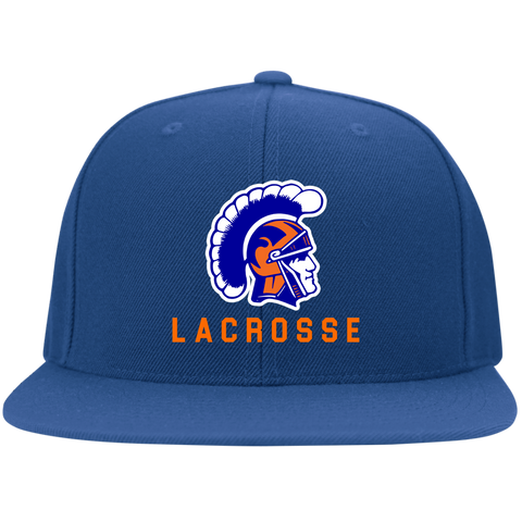 James Island Trojans Lacrosse Flat Bill Flexfit Cap - Sports Parent Gear