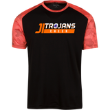 James-Island-Trojans-HELMET B-CHEER Men's CamoHex Colorblock T-Shirt - Sports Parent Gear
