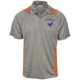 James Island Trojans-Heather Moisture Wicking Polo - Sports Parent Gear