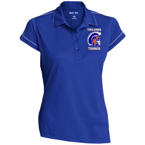 James Island Trojans HELMET A-TENNIS Ladies' Contrast Stitch Performance Polo - Sports Parent Gear