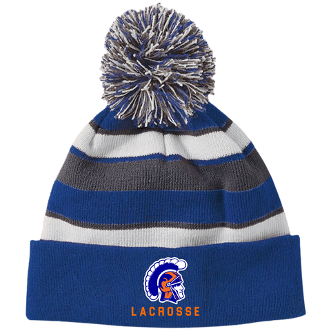 James Island Trojans Lacrosse Striped Beanie - Sports Parent Gear