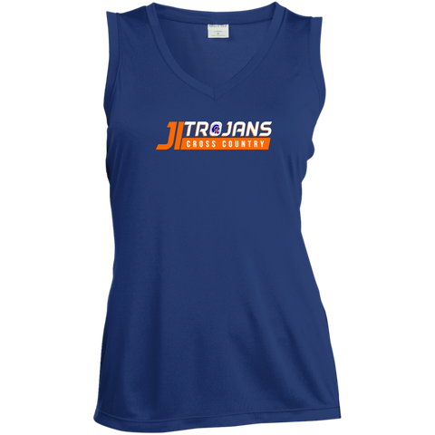 James Island Trojans CROSS COUNTRY-Ladies' Sleeveless Performance Shirt - Sports Parent Gear