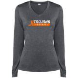 James Island Trojans FOOTBALL-Ladies' Performance LS T-Shirt - Sports Parent Gear