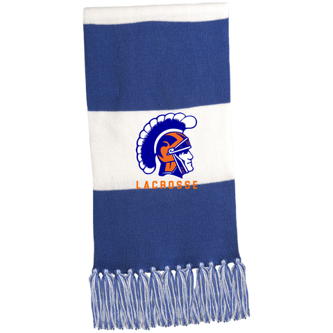 James Island Trojans Lacrosse Fringed Scarf - Sports Parent Gear