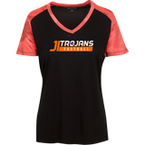James Island Trojans FOOTBALL-Ladies' CamoHex Colorblock T-Shirt - Sports Parent Gear