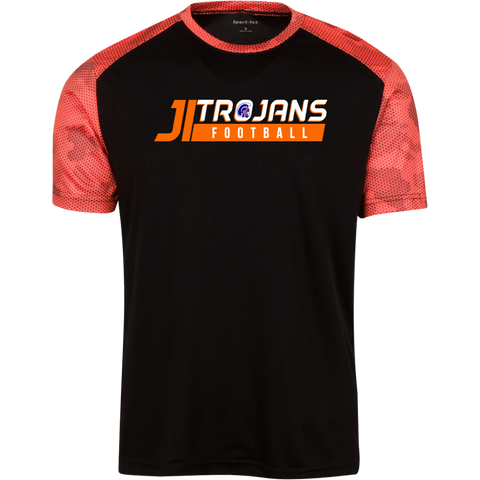 James Island Trojans FOOTBALL-Men's CamoHex Colorblock T-Shirt - Sports Parent Gear