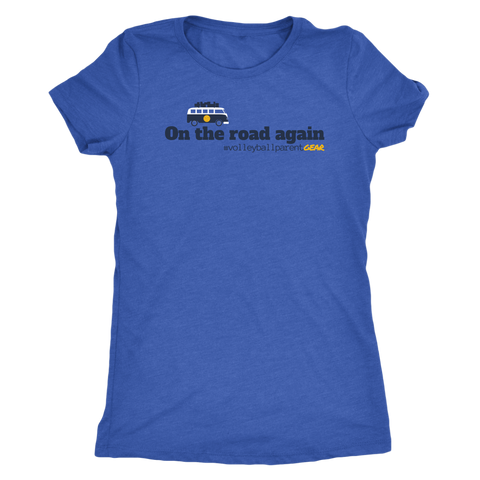 Women's T-Shirt Triblend-On the road again (Light Colors) - Sports Parent Gear