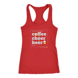 Women's Racerback Tank-Coffee Cheer Beer - Sports Parent Gear