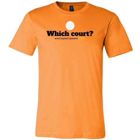 Men's T-Shirt-Cotton-Which Court? - Sports Parent Gear