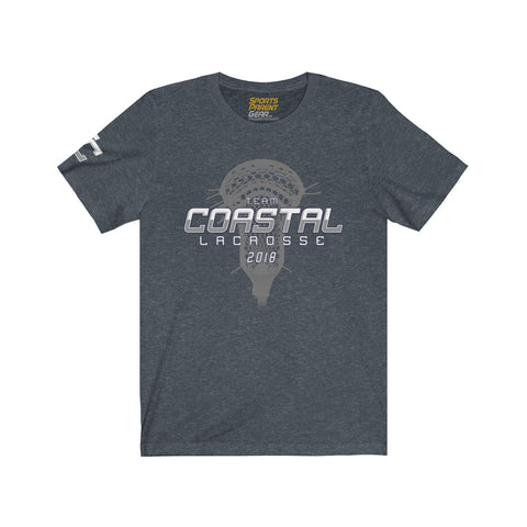 Team Coastal Lacrosse Premium Unisex Jersey T-Shirt - Sports Parent Gear
