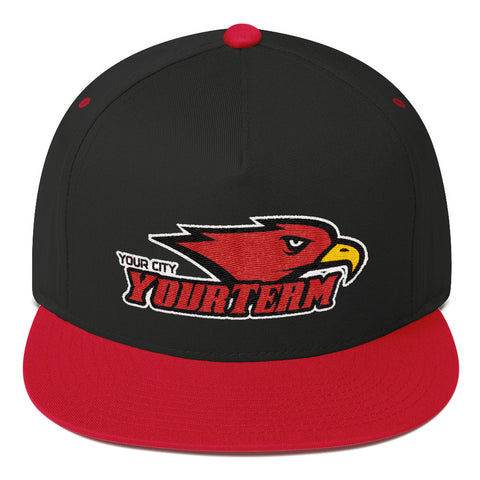 YourTeam-Flat Bill Cap - Sports Parent Gear