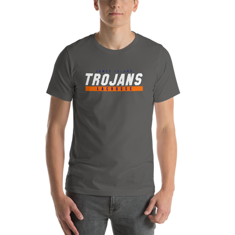 James Island Trojans-Lacrosse T-Shirt (White) - Sports Parent Gear