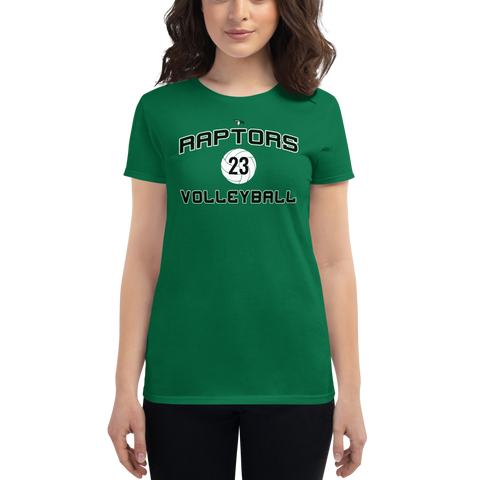 AMHS Raptor Volleyball Women's Tee (Custom Number) - Sports Parent Gear