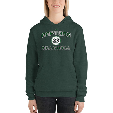 "AMHS Raptors Volleyball ""Custom"" Hoodie (Unisex) - Sports Parent Gear"