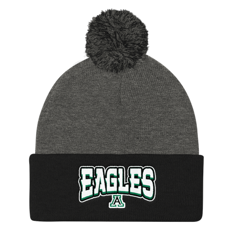 Alisal Eagles Pom Pom Knit Hat - Sports Parent Gear