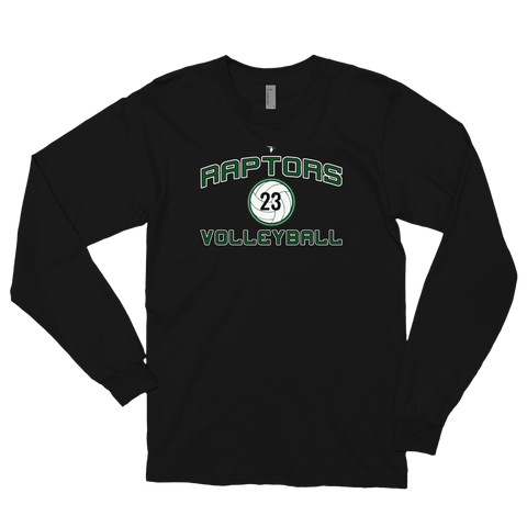 "AMHS Raptors Volleyball ""Customized"" Long Sleeve T-shirt (Unisex) - Sports Parent Gear"