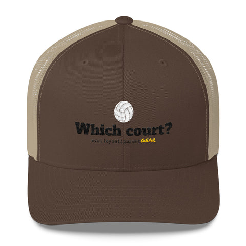 Trucker Cap-Which Court? - Sports Parent Gear