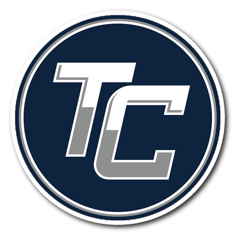 Team Coastal Lacrosse - Round TC Sticker (Blue) - Sports Parent Gear
