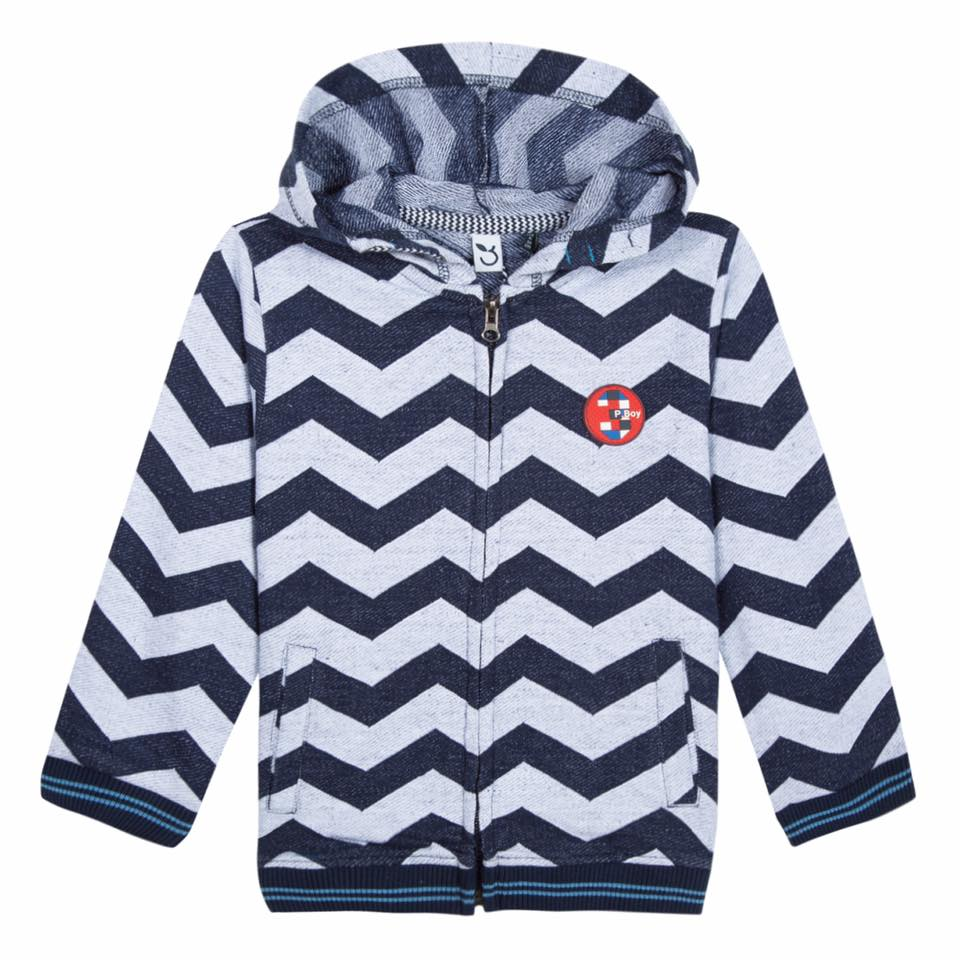 3 Pommes toddler boy marine hoody hooded cardigan