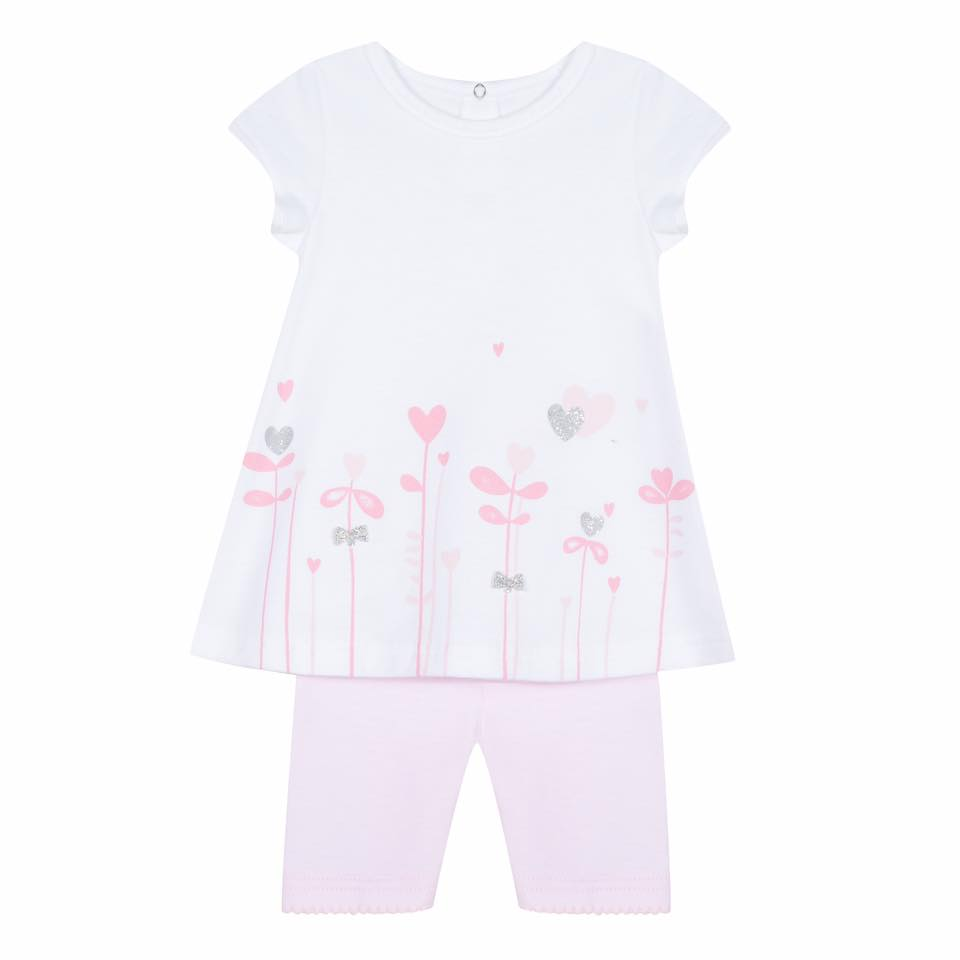 3 Pommes baby girls tunic and leggings outfit set