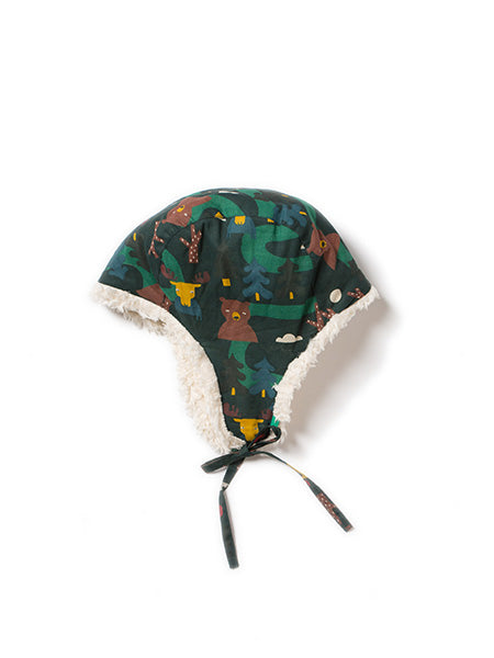 Little green radicals Nordic forest Sherpa hat
