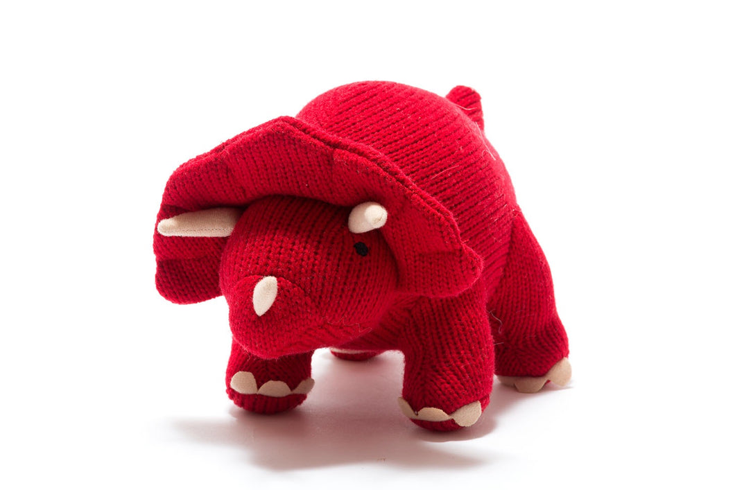 Best years knitted dinosaur triceratops