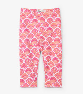 Hatley pink scallop shells baby leggings