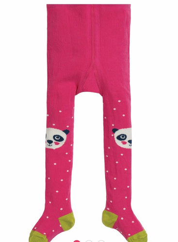 Frugi little fun tights panda