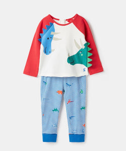 Joules Mack two piece set dinosaur