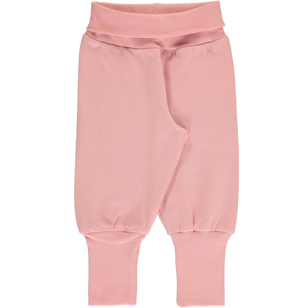 Maxomorra dusty rose rib pants solid joggers