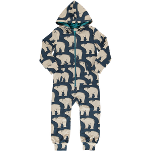 Maxomorra winter all in one onesie polar bear