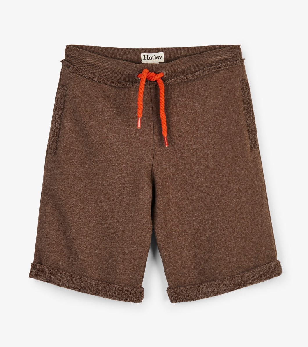 Hatley brown rolled Bermuda shorts